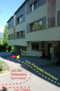 Wegweiser zur Klang Bild-Praxis bei www.klang-bild-praxis.at